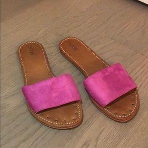 pink slide sandals